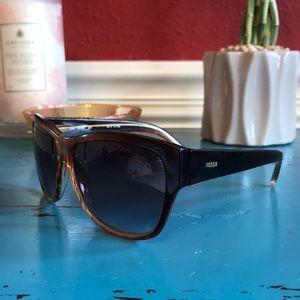 Fossil Tortoiseshell Sunglasses Brown Black